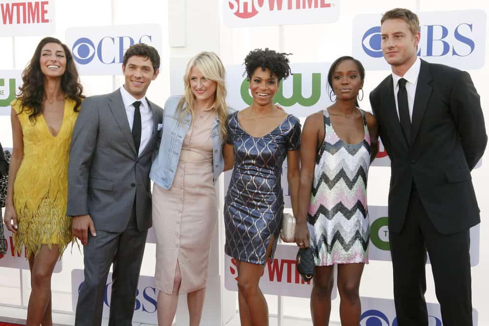Necar Zadegan, Michael Rady, Mamie Gummer, Kelly McCreary, Aja King & Justin Hartley at the Beverly Hilton for the TCA Awards.