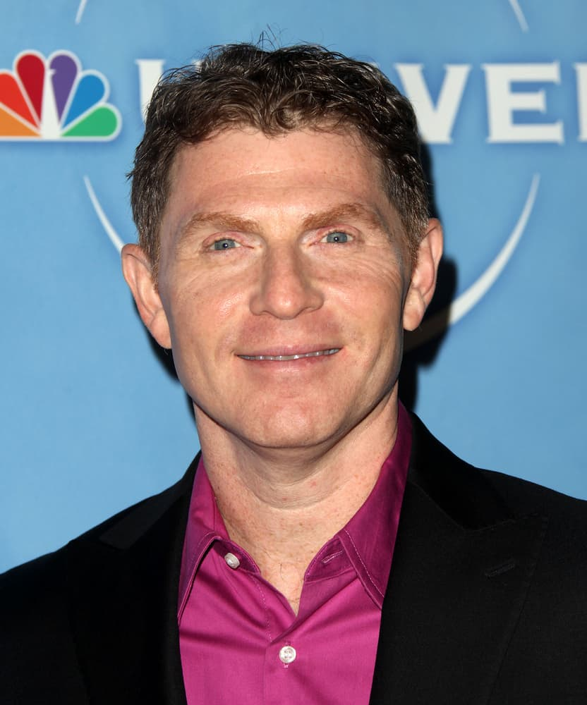 Bobby Flay at the NBC All-Star party.