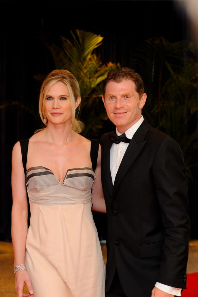 Stephanie March and Bobby Flay at the White House Correspondents Association dinner.