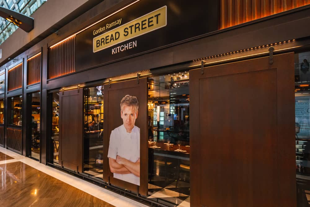Gordon Ramsay's Bread Street Kitchen restaurant in Singapore.
