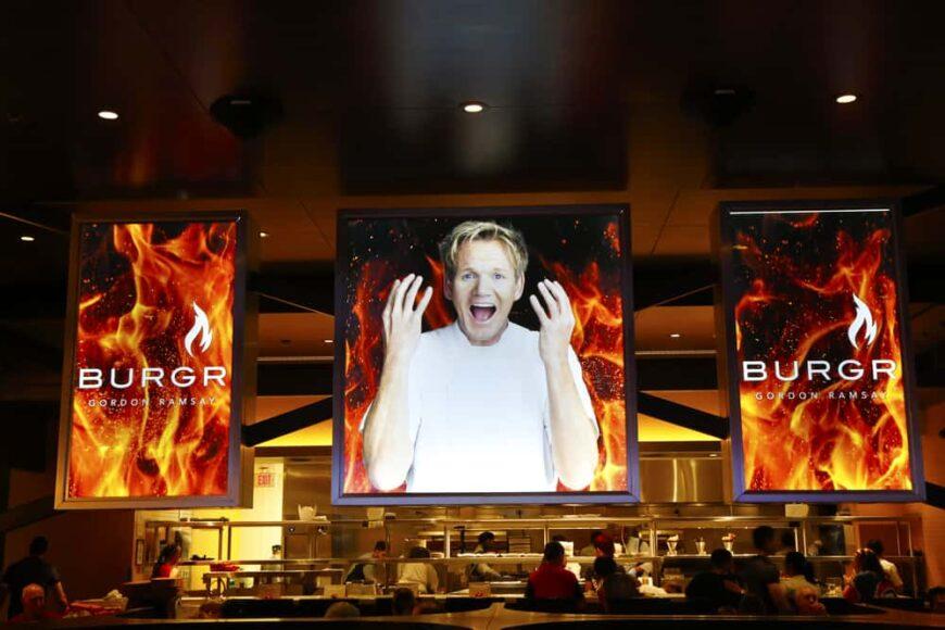 Gordon Ramsay's BurGR Restaurant at Planet Hollywood Resort and Casino in Las Vegas.