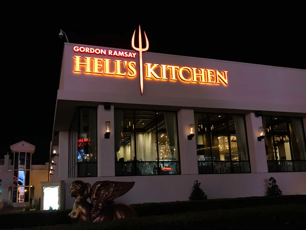 Hell's Kitchen restaurant in the Caesars palace Hotel on Las Vegas Boulevard.