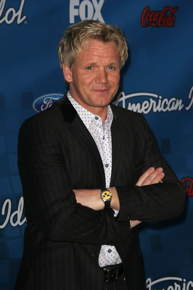Gordon Ramsay at the American Idol Season 10 Top 13 Finalists Party.