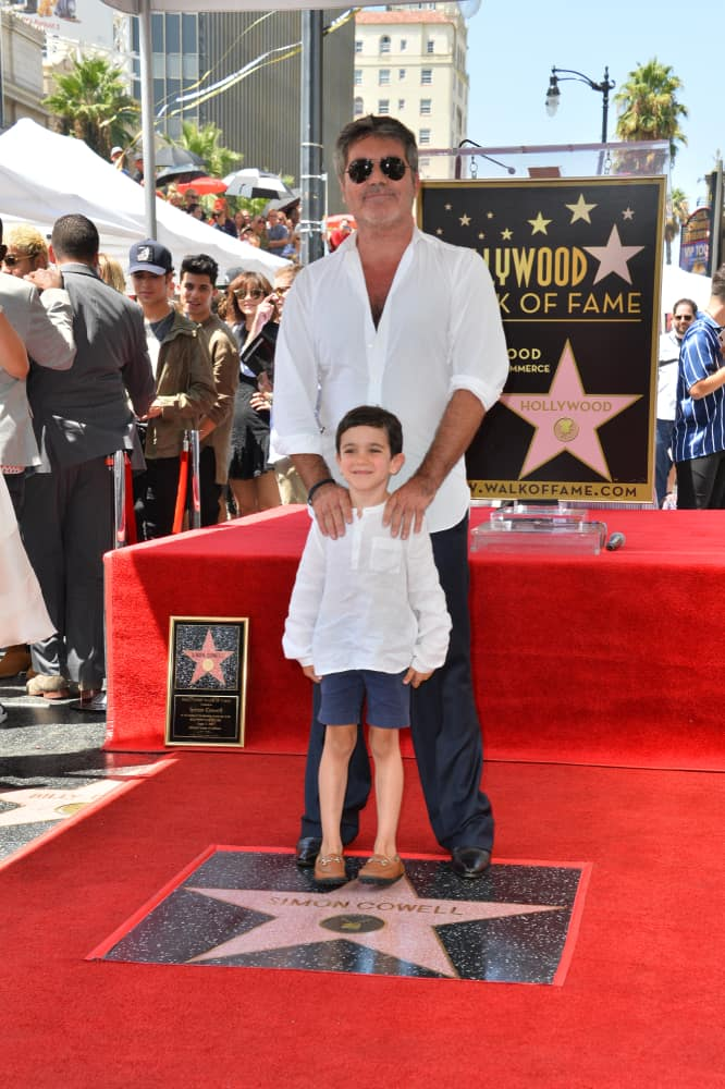 Simon Cowell & Eric Cowell at the Hollywood Walk of Fame Star Ceremony honoring Simon Cowell.