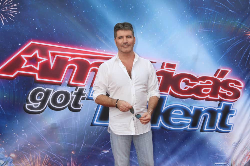 Simon Cowell at the America's Got Talent Judges photocall at the Pasadena Civic Auditorium.