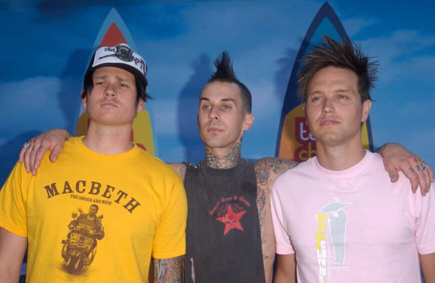 The members of Blink 182 attended the 2004 Teen's Choice Awards.