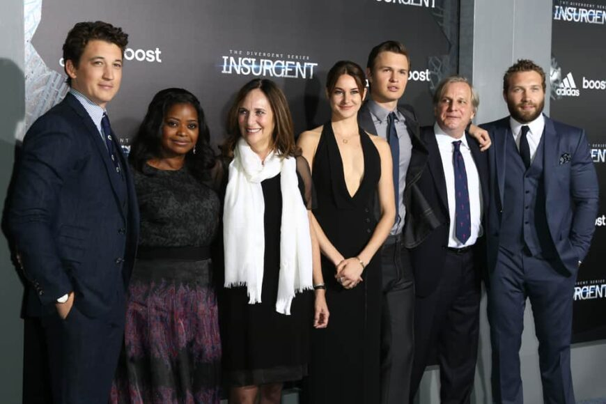The cast of Insurgent attended the premier of the movie in New York.