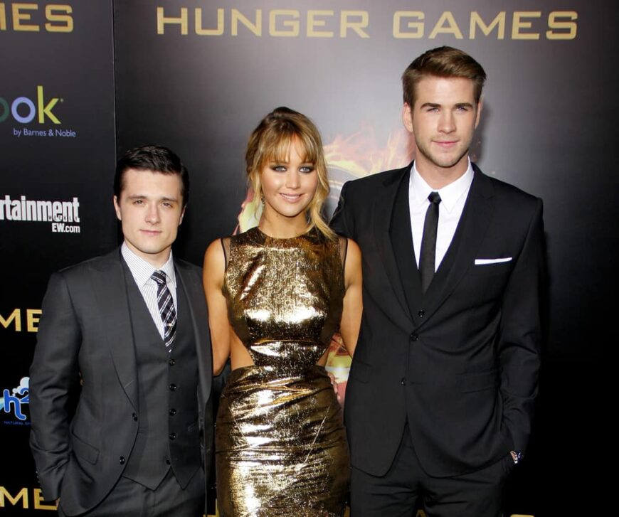 Josh Hutcherson, Jennifer Lawrence and Liam Hemsworth attended the Hunger Games premiere.