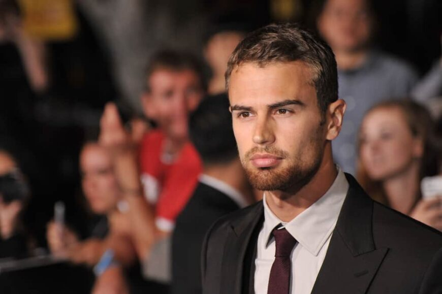 """Theo James at the Los Angeles premiere of his movie """"Divergent""""."""