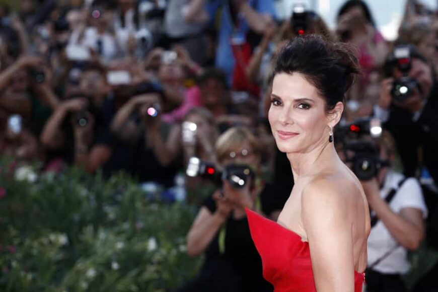 Sandra Bullock attended the premiere of the movie Gravity in Italy.