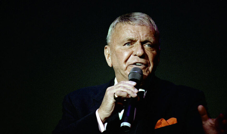 Frank Sinatra performed on stage in Washington back in 1992.