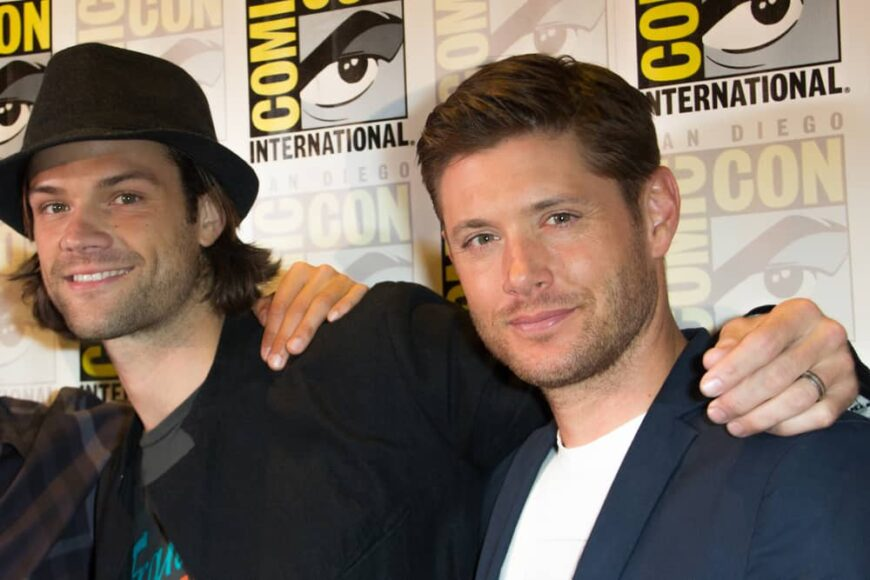 Jared Padalecki and Jensen Ackles attended the 2014 Comic Con.