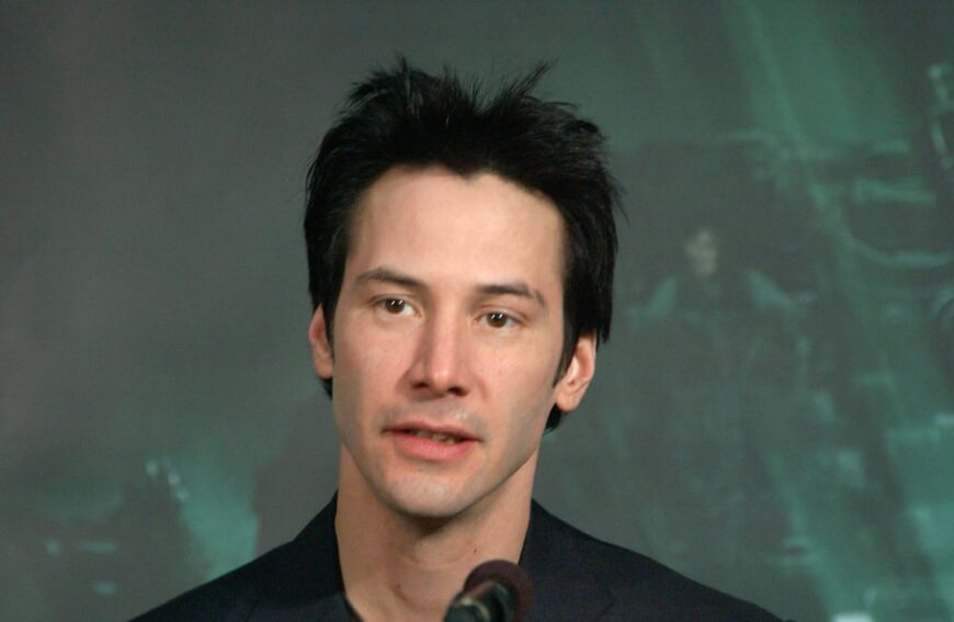 Keanu Reeves attended the 2003 press conference for Matrix Revolutions.