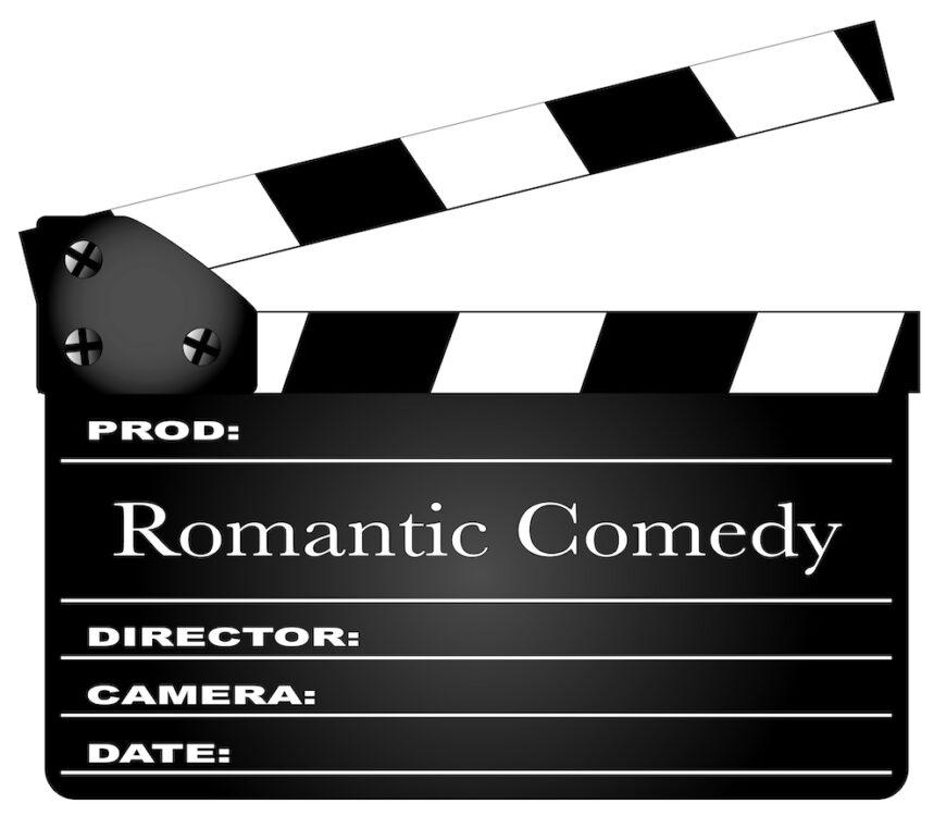 Movie clapper for romantic comedy